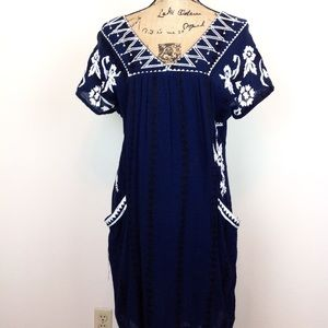 Lucky Brand Embroidered Casual Dress - M